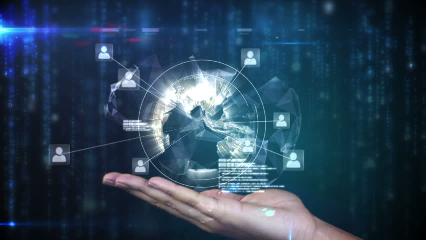 Digital composite of Hand presenting a global community graphic | Shutterstock HD Video #10001015