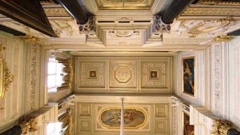 SAINT-PETERSBURG, RUSSIA - MAY, 2015: The magnificent ceiling Hermitage. St. Petersburg. Winter Palace.