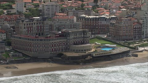 AERIAL France-Biarritz 2006: Sea front hotels at Biarritz