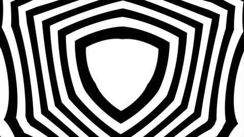 Abstract surreal loop motion background, black and white kaleidoscope. Black and white abstract, looped footage