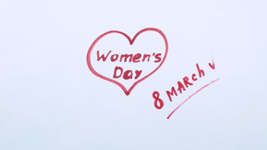 Women's Day and decorative turquoise floret | Shutterstock HD Video #1006804831