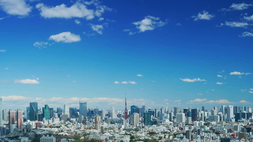 Tokyo landscape Timelapse spring