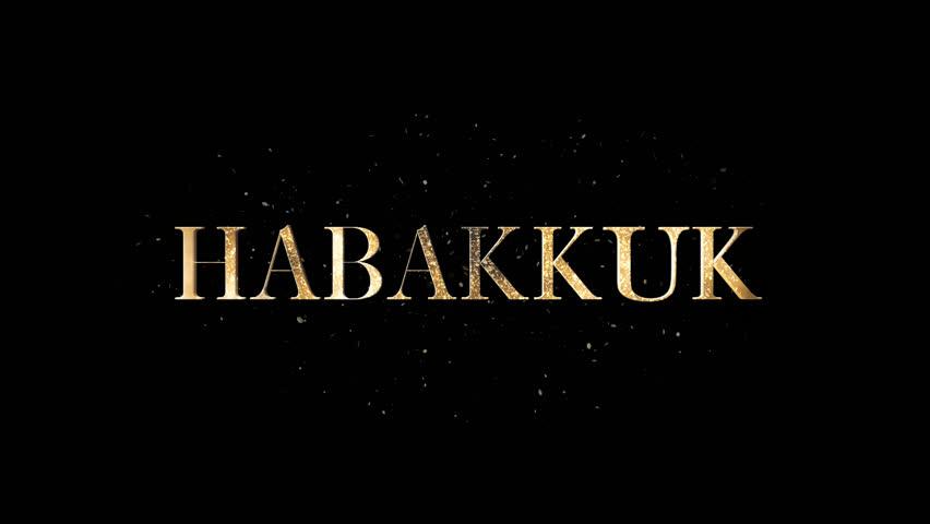 Header of Habakkuk