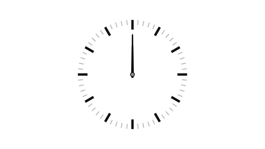 4K (UltraHD) loopable video animation of timelapse of clock on white background | Shutterstock HD Video #1007128591