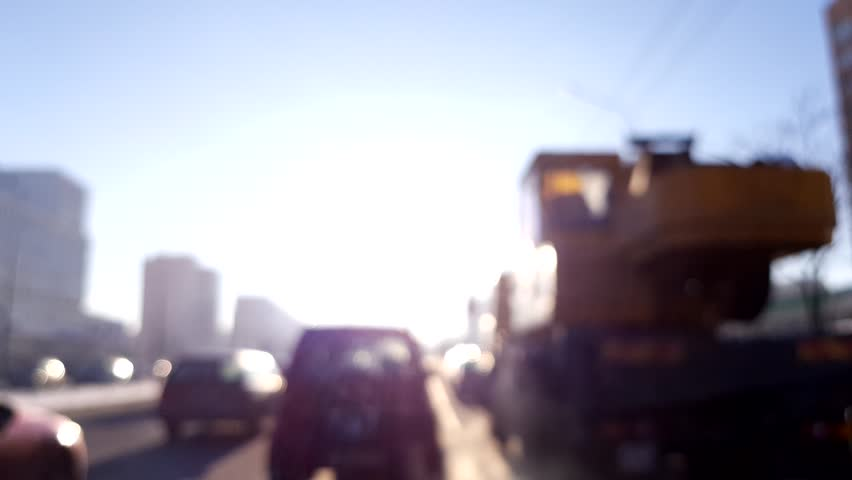 Texture blur, winter road in the city, sunny day. | Shutterstock HD Video #1007155231