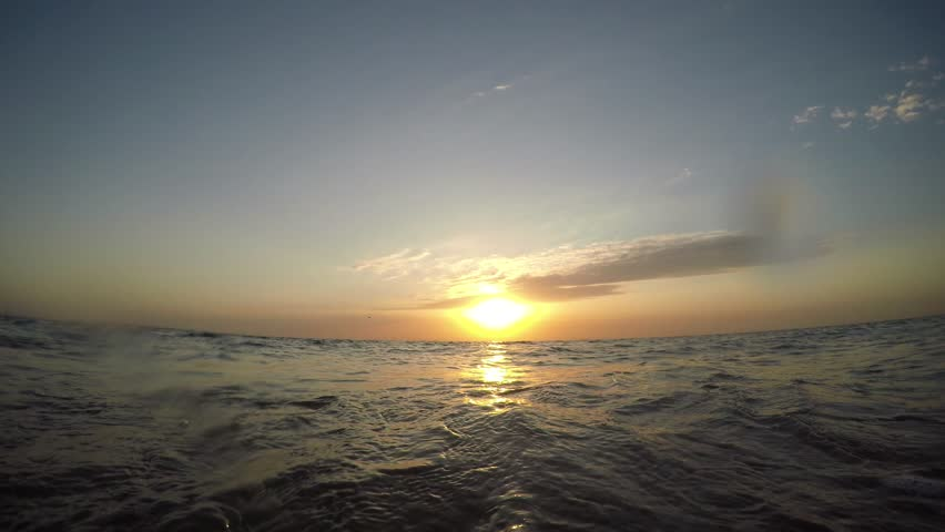 Early morning, sunrise over sea | Shutterstock HD Video #1007232091