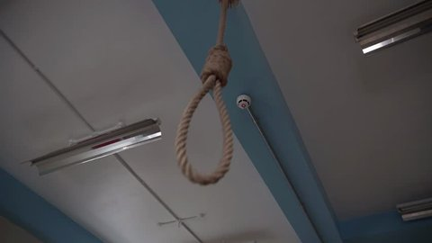 Genuine Hangman's Noose In Prison For Death Penalty Punishment, 4K Crime