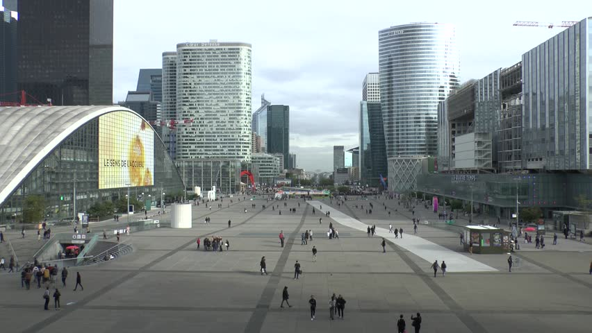 France, Paris. 09/28/2017. Panorama of the quarter of Défense. | Shutterstock HD Video #1007628871