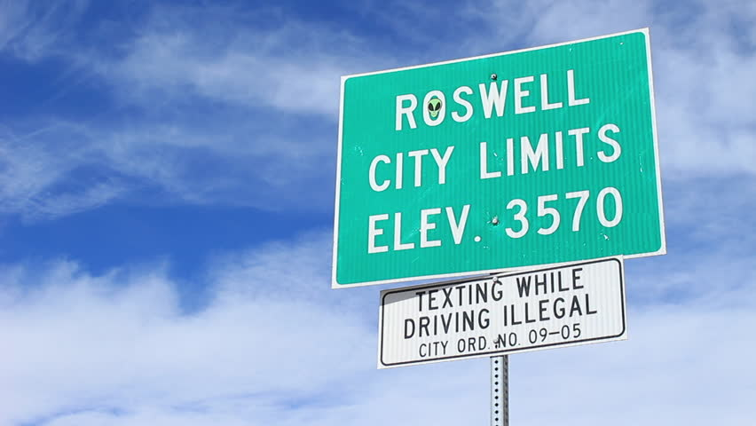 Roswell City Limit Sign