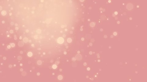 Loop-able abstract glowing gold bokeh sparkling on pink old rose background. For wedding, romantic events or cosmetic/beauty products