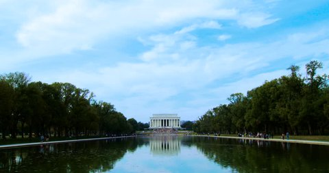 The Lincoln Memorial very wide and reflecting pool in Washington DC. Plenty of room for graphics!