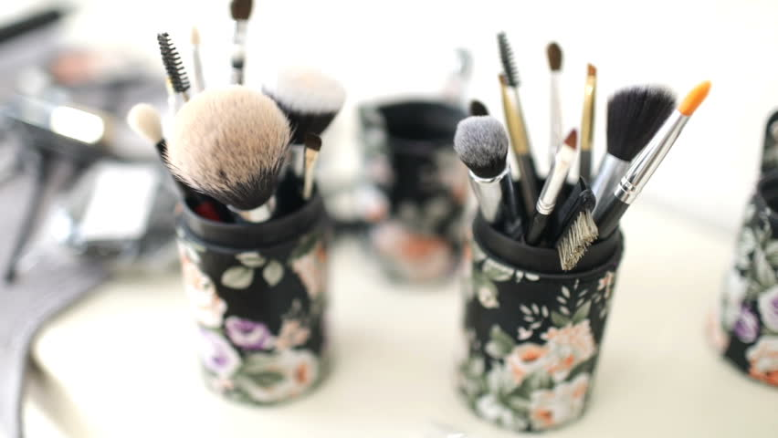Professional makeup brush. Packaging for brushes | Shutterstock HD Video #1007813311