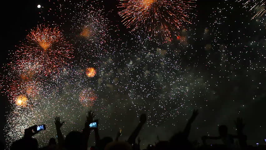 Fireworks in New Year's Eve | Shutterstock HD Video #1007829031