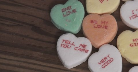 Valentine's Day Candy Hearts With Messages - Pan