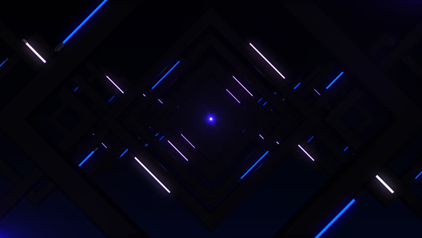 Mysterious light, endless tunnel, vj loop #1007865001