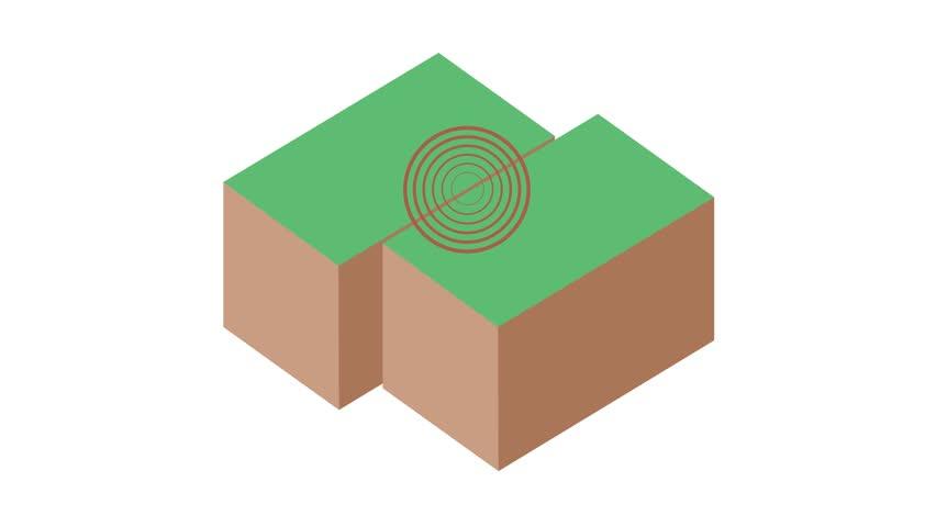 3 earthquake graphic animation
