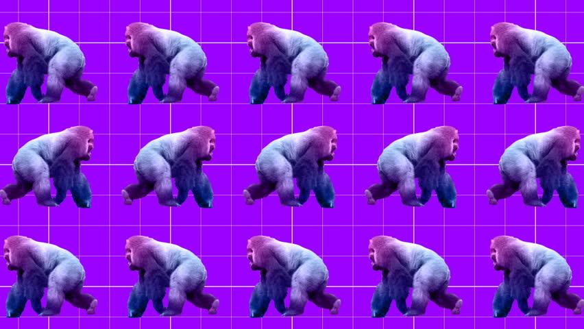 Minimal Motion art. Gorilla background