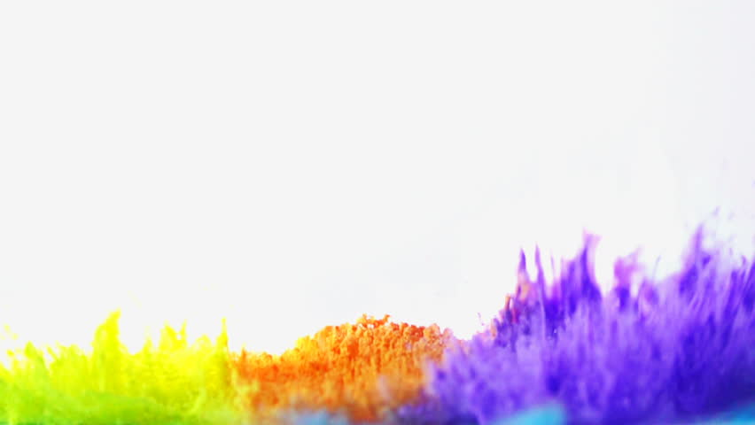 Color powder explosion in slow motion shot at 960fps