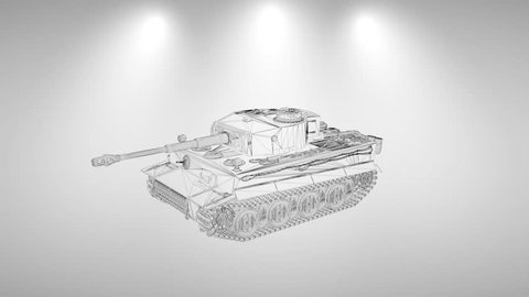3D Fragmented tank