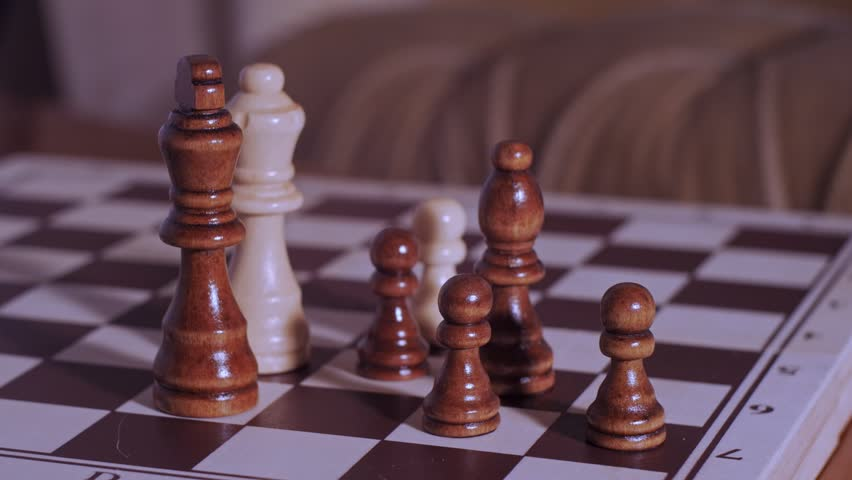 Man resigns the game of chess