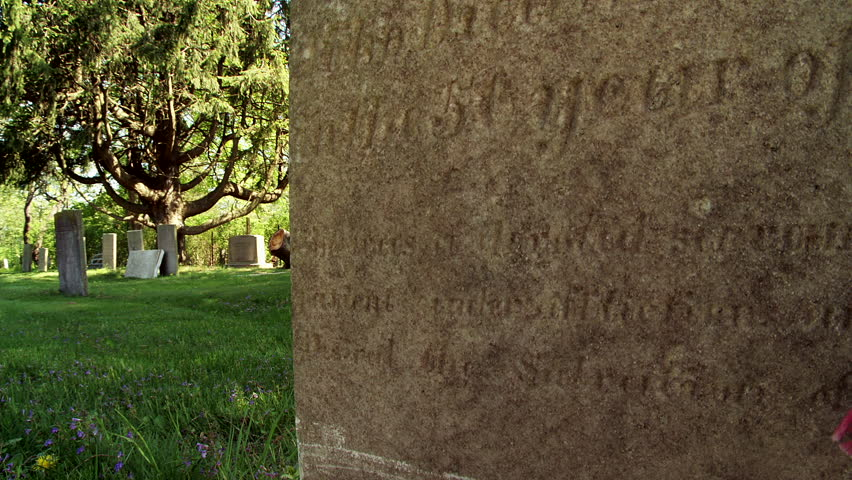 Header of gravestone