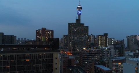 Johannesburg city Night , Telkom tower.