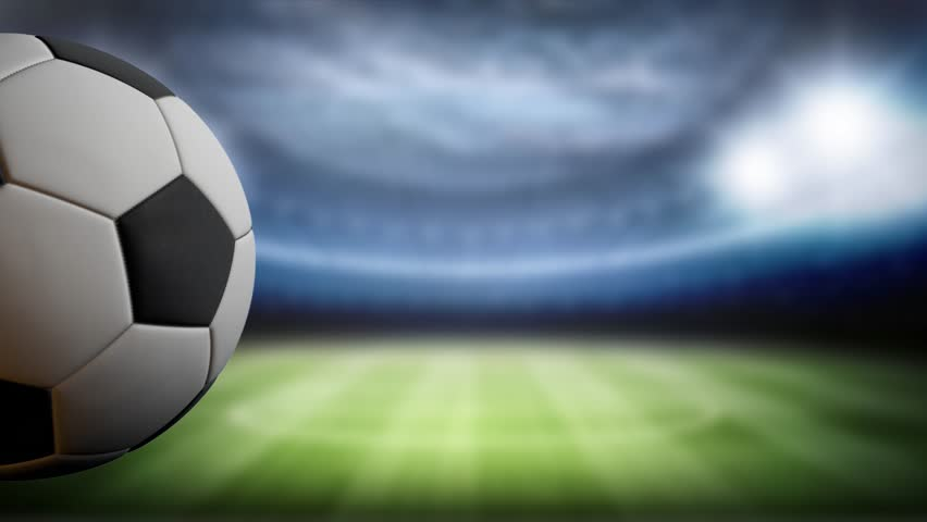 Soccer Backgrounds Stock Photo: Soccer Score Background, Ball Rotates Stock Footage Video