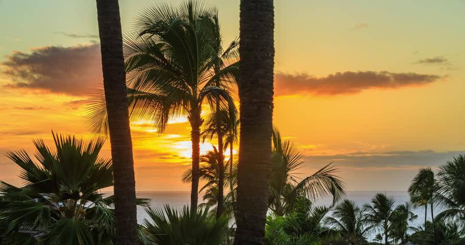 Wailea Makena beach time lapse, Maui, Hawaii