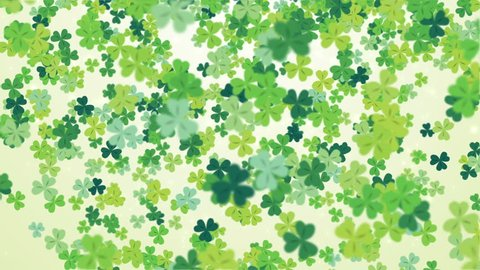 Clover leaf St Patrick's day background looped.