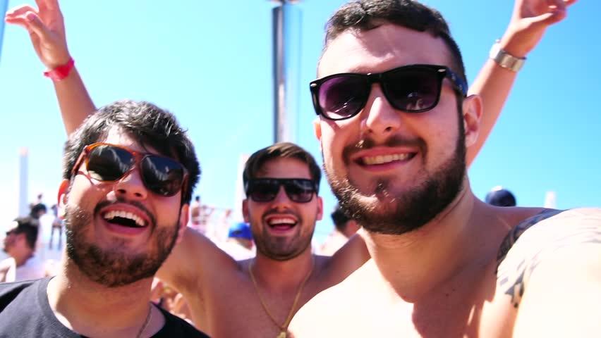 Friends taking a Selfie in Cruise Ship Party | Shutterstock HD Video #1008189871