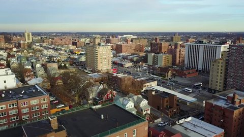 Aerial view of Jamaica Queens, New York
