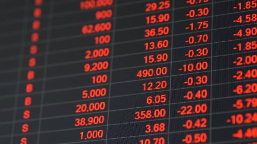 Economic crisis - Red stock market price board chart showing economic crisis of world stock. Bad economy and negative price down stock market situation. Traders are panic and selling their stock. | Shutterstock HD Video #1008278041