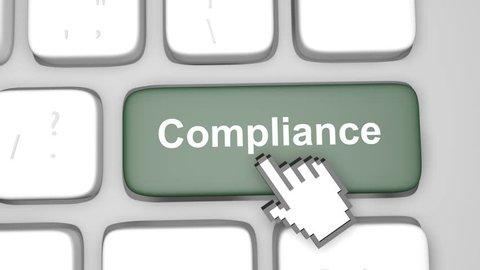 Compliance keyboard key animation