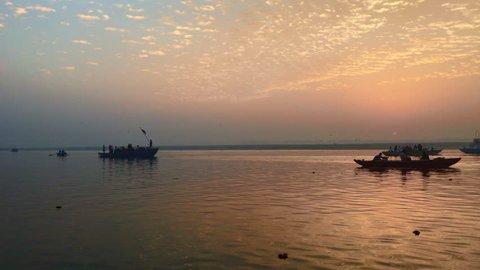 Boat Trip In Ganges River , Varanasi , India