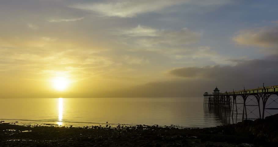 Clevedon Pier Sunset Timelapse, England
