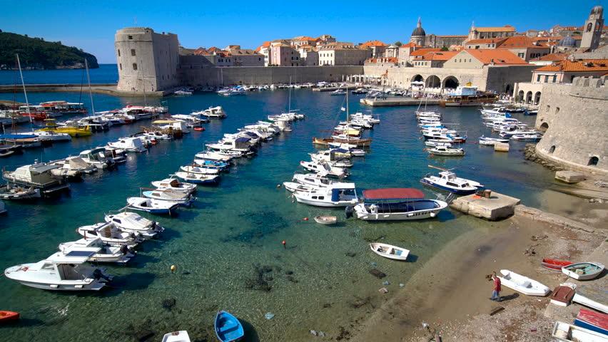 Dubrovnik Old Town on coast of Adriatic Sea, Dalmatia, Croatia - Prominent travel destination of Croatia. Dubrovnik old town was listed as UNESCO World Heritage Sites of Croatia in 1979.