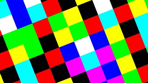 Rhythmic animated rotating colorful checkers board in 24fps 120BPM 16bars looping