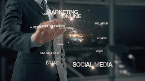 Businessman with Online PR