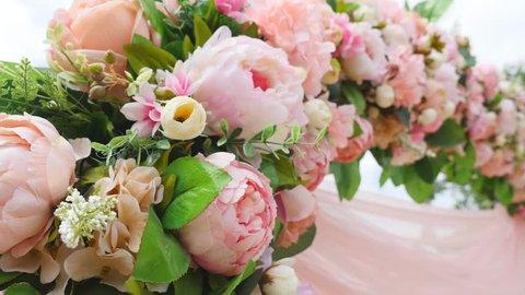Wedding Flower Arch Decoration. Wedding arch decorated with flowers