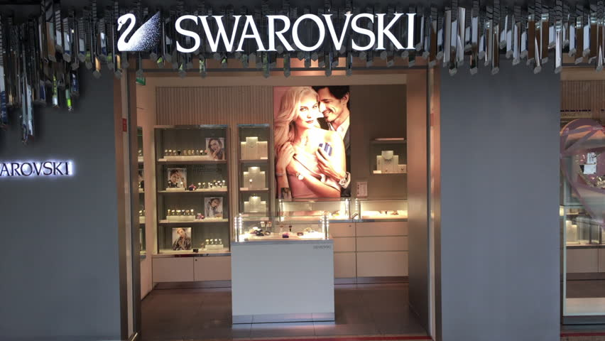 ffbc50f2c0dd Swarovski Store Stock Video Footage - 4K and HD Video Clips ...