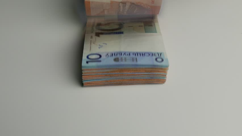 Ungraded: Counting new Belorussian Rubles (BYN) - official currency of Belarus since 2016. Ungraded H.264 from camera without re-encoding.   | Shutterstock HD Video #1008769271