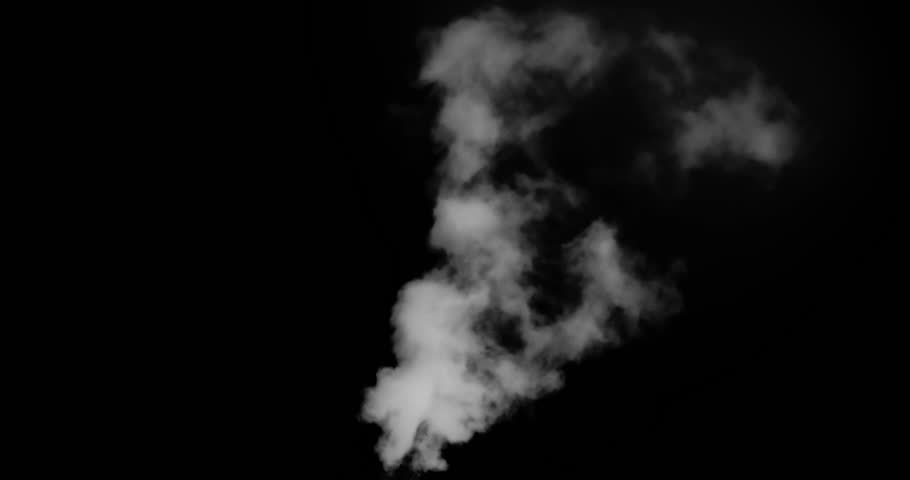 Big Flying White Smoke. White vapor or smoke slowly rises upwards gradually dissolving. Excellent for simulating smoking pipes. For example, geysers, steam locomotives or steamers, etc.