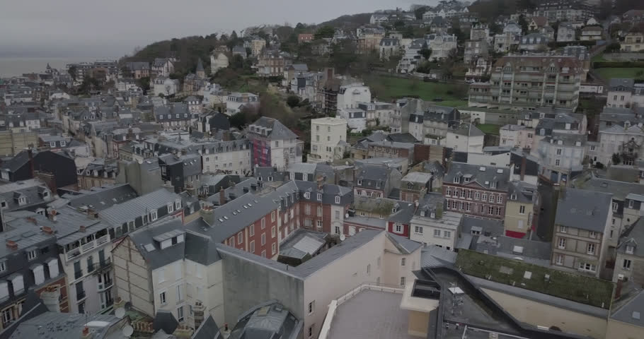 Aerial shots of European town, streets and roads from above, france | Shutterstock HD Video #1008918791