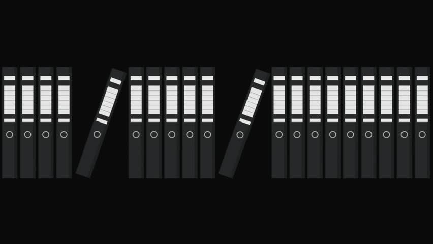 Folders Files Motion Graphic | Shutterstock HD Video #1008965441