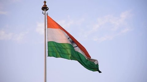 The National Flag of India is a horizontal rectangular tricolour of India saffron, white and India green; with the Ashoka Chakra, a 24-spoke wheel, in navy blue at its centre.