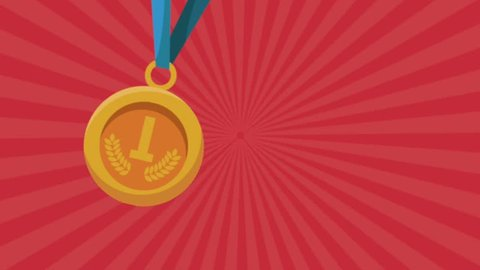 gold medal first place animation