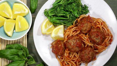 Spaghetti And Meatballs Pasta