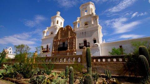 Classic Catholic Church in Arizona Tracking Shot