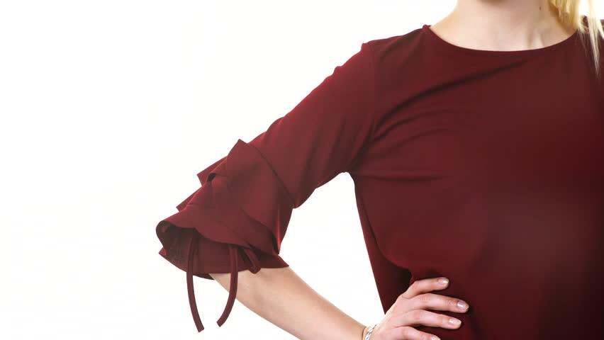 Revealing blouses in restaurants