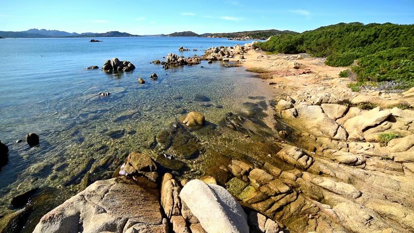 Rocky shore in Caprera island, Sardinia